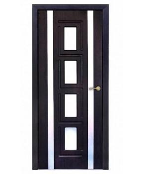 """Межкомнатные двери """"Рим"""" ПО. Покрытие пленка ПВХ. Фабрика """"Феникс"""" Цвет - тиковое дерево"""