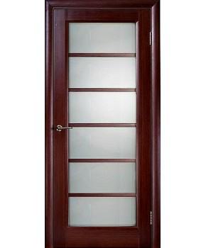 """Межкомнатные шпонированные двери """"Калипсо 1"""" ПО.  НСД. Цвет - венге"""