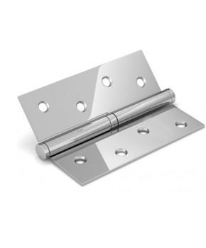 Дверные съемные врезные петли. Длинна 100 мм. Открывание ПРАВОЕ. Цвет серебро (сатин)