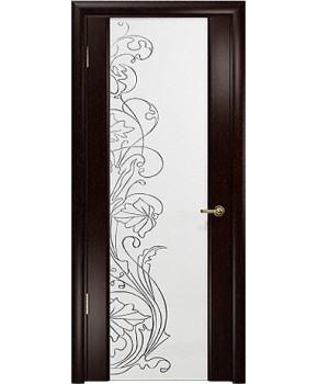"""Межкомнатные шпонированные двери """"Милано с рисунком"""" ПО.  НСД. Цвет - Венге"""