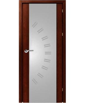 """Межкомнатные шпонированные двери """"Милано с рисунком"""" ПО.  НСД. Цвет - каштан"""