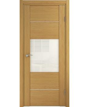 """Межкомнатные шпонированные двери """"Кэмбридж -М"""" ПО.  НСД. Цвет - дуб светлый"""
