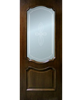 """Межкомнатные шпонированные двери """"Кармен"""" ПО.  Фабрика Омис. Цвет - орех"""