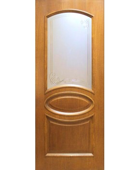 """Межкомнатные шпонированные двери """"Лаура"""" ПО.  Фабрика Омис. Цвет - дуб тонированный натуральный"""