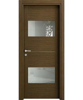 """Межкомнатные шпонированные двери """"Манчестер - М"""" ПО.  НСД. Цвет - венге"""
