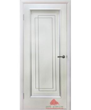 """Межкомнатные шпонированные двери """"Триумф"""" ПГ.  Двери Белоруссии. Цвет - белый лак"""