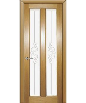 """Межкомнатные шпонированные двери """"Дельта"""" ПО + Рис.2.  НСД. Цвет - дуб классический"""