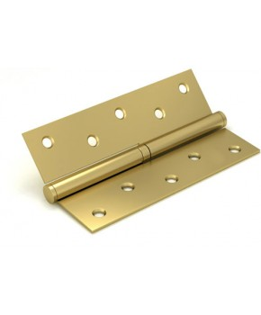 Дверные съемные врезные петли. Длинна 125 мм. Открывание ПРАВОЕ. Цвет матовое золото