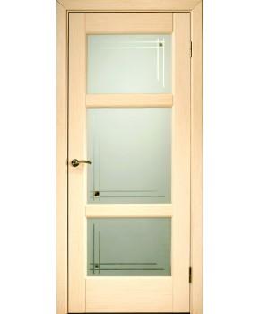 """Межкомнатные шпонированные двери """"Генри"""" ПОО.  НСД. Цвет - дуб беленный"""