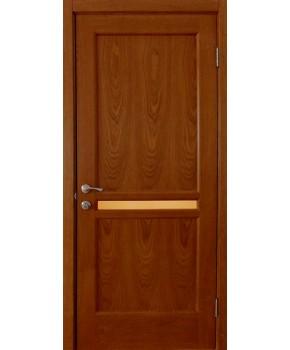 """Межкомнатные шпонированные двери """"Нью - Йорк Сити"""" ПО.  НСД. Цвет - дуб темный"""