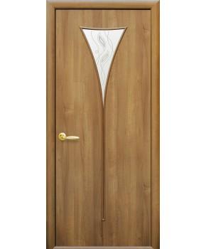 """Межкомнатные двери """"Бора"""",ПО+Р3. пленка ПВХ фабрика """"Новый стиль"""", цвет - ольха премиум"""