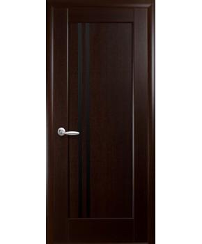 """Межкомнатные двери """"Делла"""",ПО,черное стекло, пленка ПВХ, фабрика """"Новый стиль"""", цвет - венге new."""