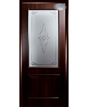 """Межкомнатные двери """"Вилла"""",ПО +Р1. пленка ПВХ, фабрика """"Новый стиль"""", цвет - каштан"""