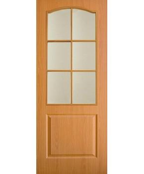 """Межкомнатные двери """"Классика"""" ПО. Фабрика Омис. Покрытие пленка ПВХ. Цвет - ольха"""