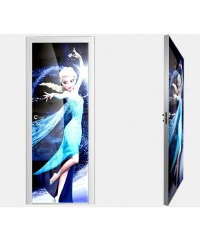 """Межкомнатные стеклокаркасные двери. Модель """"08 F"""". Фабрика Аксиома. Покрытие зеркало. фотопечать"""