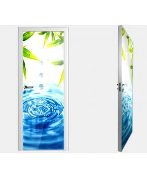 """Межкомнатные стеклокаркасные двери. Модель """"09 F"""". Фабрика Аксиома. Покрытие зеркало. фотопечать"""