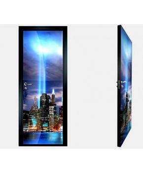 """Межкомнатные стеклокаркасные двери. Модель """"10 F"""". Фабрика Аксиома. Покрытие зеркало. фотопечать"""