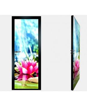 """Межкомнатные стеклокаркасные двери. Модель """"17 F"""". Фабрика Аксиома. Покрытие зеркало. фотопечать"""