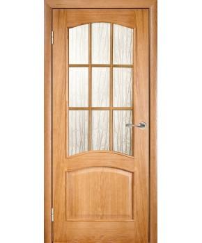 """Межкомнатные шпонированные двери """"Капри"""" ПС.  Галерея дверей. Цвет - дуб"""