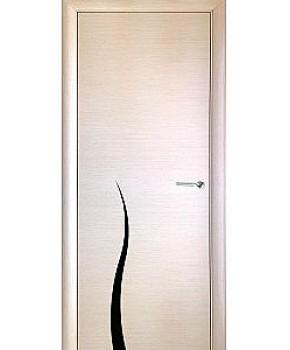 """Межкомнатные шпонированные двери """"Маркетри 3"""" ПГ.  WoodOk. Цвет - беленый дуб - венге"""