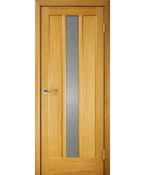 """Межкомнатные шпонированные двери """"Трояна 1"""" ПС.  Галерея дверей. Цвет - дуб"""