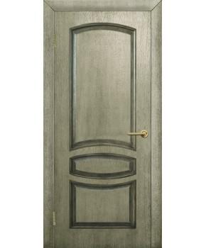 """Межкомнатные шпонированные двери """"Венеция"""" ПГ.  Фабрика Омис. Цвет - дуб ретро"""