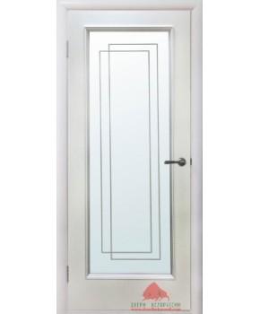 """Межкомнатные шпонированные двери """"Триумф"""" ПО.  Двери Белоруссии. Цвет - белый лак"""