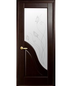"""Межкомнатные двери """"Амата"""",ПО +Р2. пленка ПВХ, фабрика """"Новый стиль"""", цвет - каштан."""