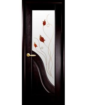 """Межкомнатные двери """"Амата"""",ПО +Р1. пленка ПВХ, фабрика """"Новый стиль"""", цвет - венге."""
