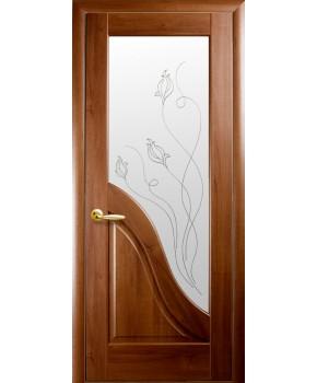 """Межкомнатные двери """"Амата"""",ПО +Р2. пленка ПВХ, фабрика """"Новый стиль"""", цвет - золотая ольха."""