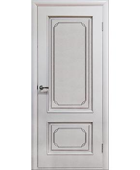 """Межкомнатные шпонированные двери """"Серебрянка"""" ПГ.  Двери Белоруссии. Цвет - белый лак"""