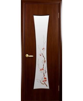"""Межкомнатные ламинированные двери """"Часы"""",ПО+Р1. фабрика """"Новый стиль"""", цвет - орех"""