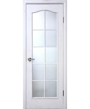 """Межкомнатные ламинированные двери """"Симпли С"""" ПО фабрика """"Новый стиль"""", цвет - белый, под покраску."""