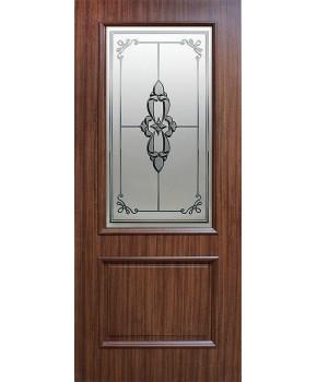 """Межкомнатные двери """"Версаль"""" ПО. Фабрика Омис. Покрытие пленка ПВХ. Цвет - каштан"""