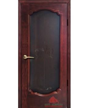 """Межкомнатные шпонированные двери """"Престиж"""" ПОО.  Двери Белоруссии. Цвет - вишня"""