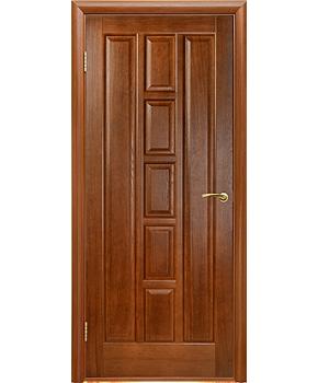 """Межкомнатные шпонированные двери """"Квадро"""" ПГ.  Двери Белоруссии. Цвет - каштан"""