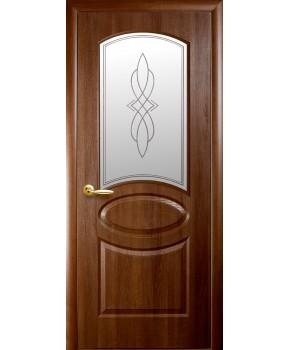 """Межкомнатные двери """"Фортис овал"""",ПО +Р1. пленка ПВХ, фабрика """"Новый стиль"""", цвет - золотая ольха."""