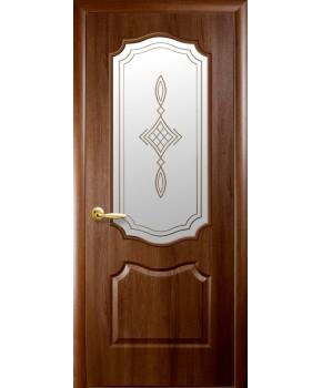 """Межкомнатные двери """"Фортис вензель"""",ПО +Р1. пленка ПВХ, фабрика """"Новый стиль"""", цвет - золотая ольха"""