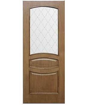 """Межкомнатные шпонированные двери """"Венеция"""" ПО + ФП.  Фабрика Омис. Цвет - дуб ретро"""