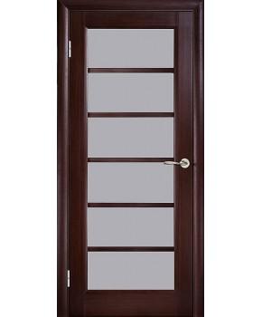 """Межкомнатные шпонированные двери """"Калипсо 1"""" ПО.  WoodOk. Цвет - венге"""