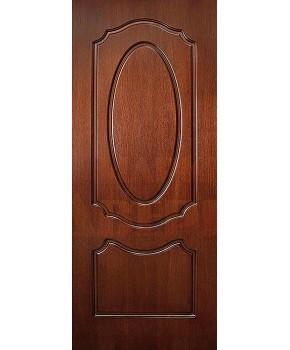 """Межкомнатные шпонированные двери """"Оливия"""" ПГ.  Фабрика Омис. Цвет - орех Lux"""