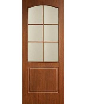"""Межкомнатные двери """"Классика"""" ПО. Фабрика Омис. Покрытие пленка ПВХ. Цвет - орех"""