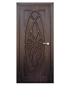 """Межкомнатные двери """"Орхидея"""" ПГ. Покрытие пленка ПВХ. Фабрика """"Феникс"""" Цвет - тиковое дерево"""