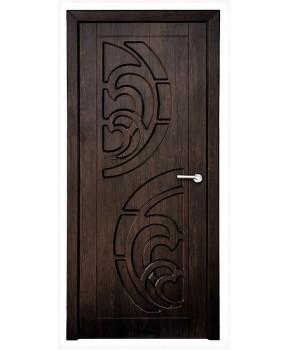 """Межкомнатные двери """"Прибой"""" ПГ. Покрытие пленка ПВХ. Фабрика """"Феникс"""" Цвет - тиковое дерево"""