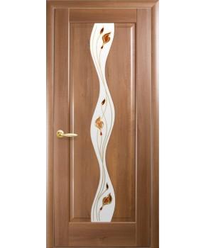 """Межкомнатные двери """"Волна"""",ПО +Р1. пленка ПВХ, фабрика """"Новый стиль"""", цвет - золотая ольха."""