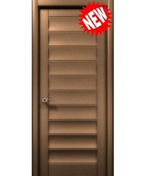 """Межкомнатные шпонированные двери """"Онда"""" ПГ.  WoodOk. Цвет - шоколадный венге"""