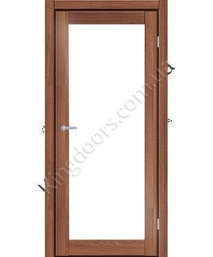 """Межкомнатные двери ART 01-02. Пленка ПВХ. Фабрика """"Art Door"""". Цвет орех"""