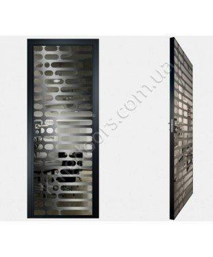 """Межкомнатные стеклокаркасные двери. Модель """"01 G"""". Фабрика Аксиома. Покрытие зеркало. Цвет графит"""