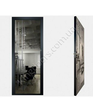 """Межкомнатные стеклокаркасные двери. Модель """"03 G"""". Фабрика Аксиома. Покрытие зеркало. Цвет графит"""