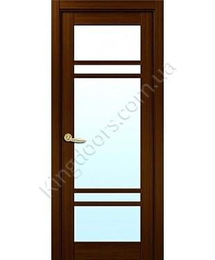 """Межкомнатные шпонированные двери """"Бруклин"""" ПОО.  НСД. Цвет - каштан"""